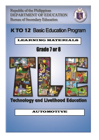 AUTOMOTIVE LEARNING MODULE K-12 2ND EDIT