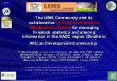 The LIMS Community and its collaborative Livestock Information Management System for managing livestock statistics and sharing information in the SADC region