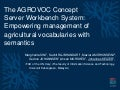 The AGROVOC Concept Server Workbench System: Empowering management of agricultural vocabularies with semantics
