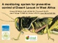 A monitoring system for preventive control of Desert Locust in West Africa