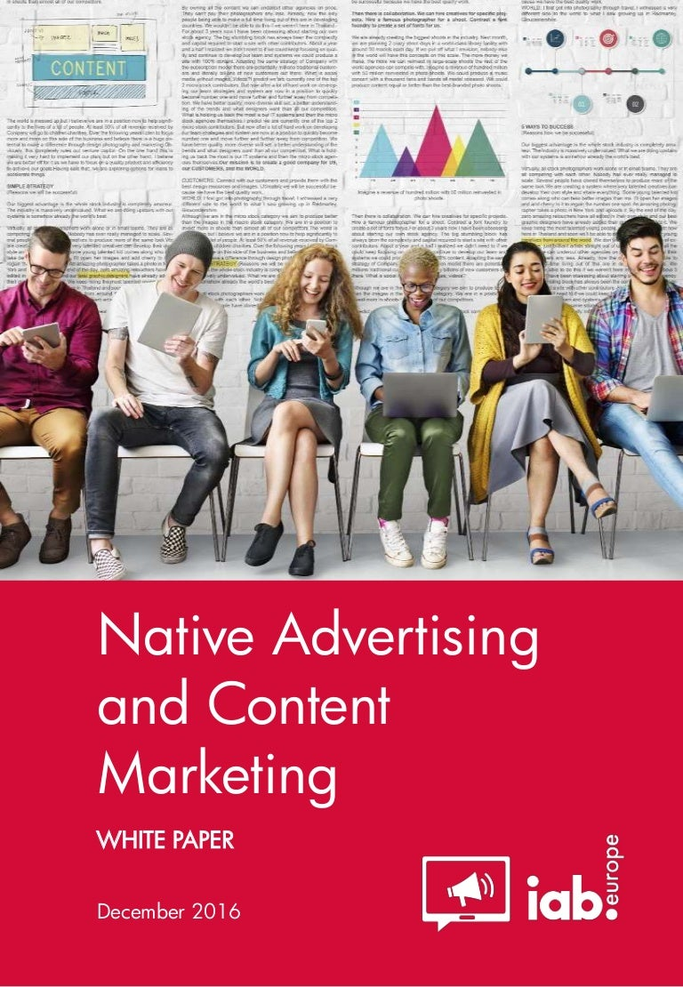 Iab europe white paper native advertising and content marketing d fandeluxe Images