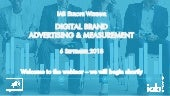 IAB Europe Webinar Deck: Digital Brand Advertising and Measurement