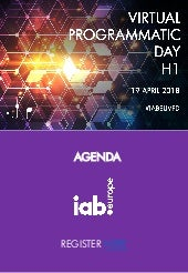 IAB Europe Virtual Programmatic Day H1 2018 -  Agenda
