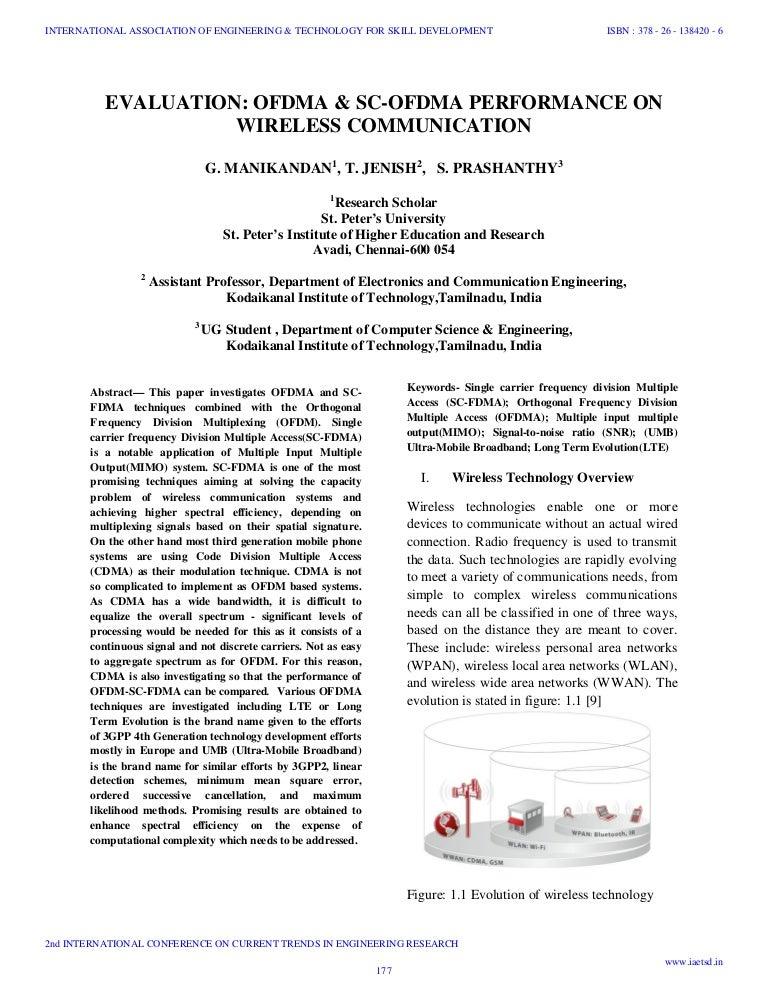 Iaetsd evaluation ofdma & sc-ofdma performance on