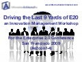 Driving the Last 9 Yards of Enterprise 2.0 - an Innovation Management Workshop
