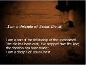 I am a disciple of Jesus Christ