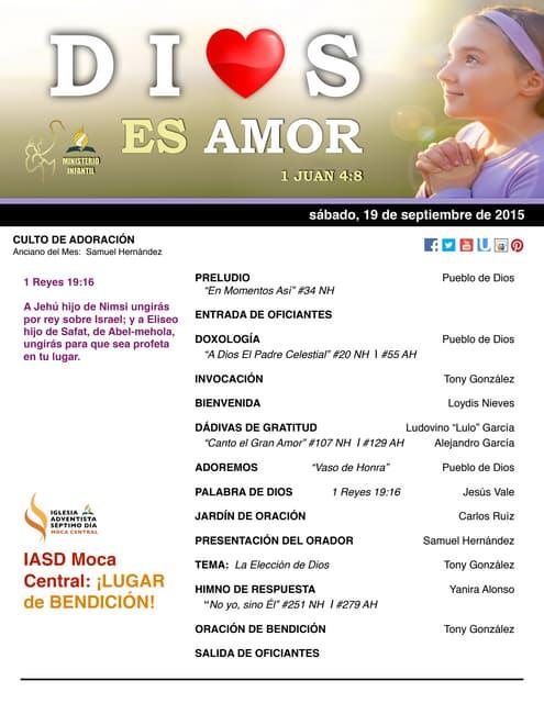 "IAMC PROGRAMA 19.SEP.2015 ""Dios es amor"""