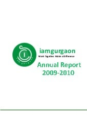 Iamgurgaon Annual Report FY 2009 - 2010