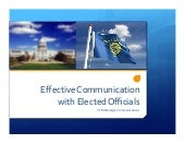 Effective Communication with Elected Officials