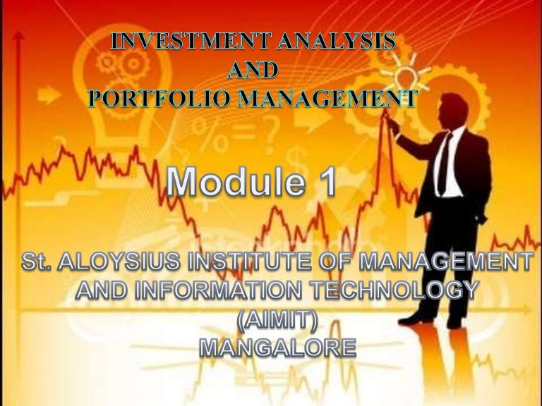 Analysis And Portfolio Management