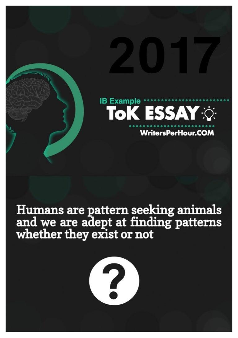 ib tok essay example
