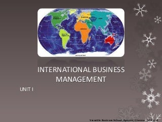International Business Management full notes