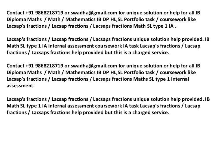 Ib math sl ia lacsap's fractions ib math sl portfolio +91 9868218719 …