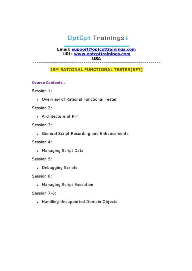 Learn ibm rational functional testerrft online training usa ibm baditri Gallery