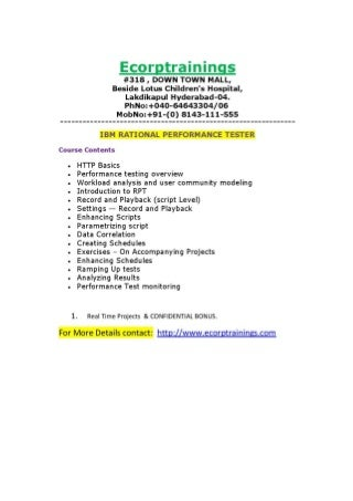 Publications Northern Illinois University Sap Performance Testing