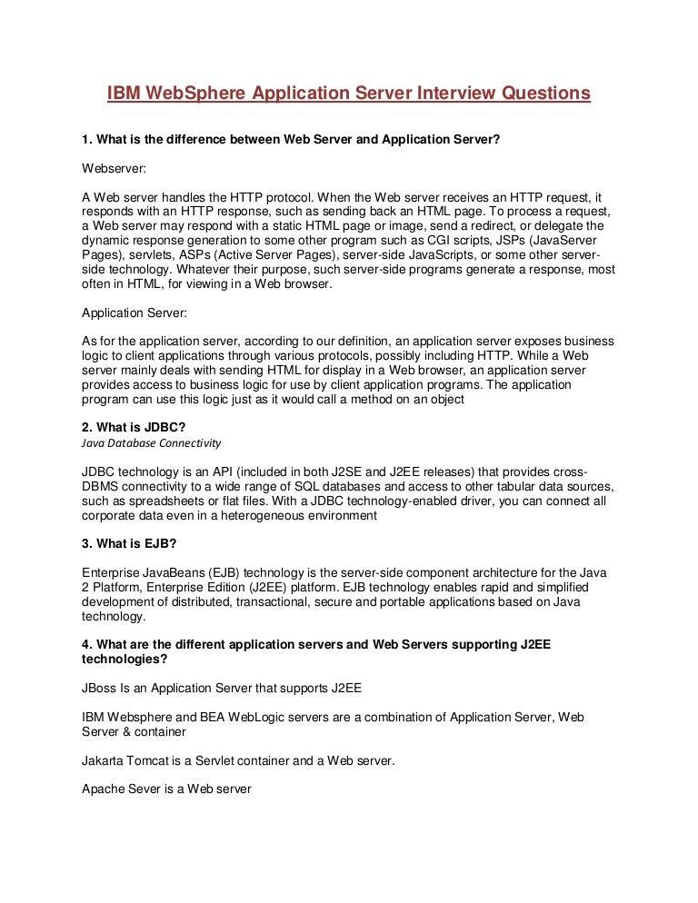Ibm web sphere application server interview questions stopboris Choice Image