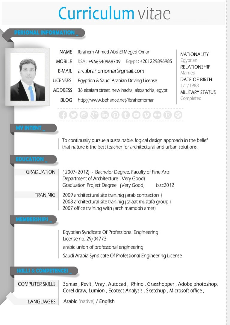 Architectural Resume