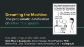Dreaming the Machine:  The problematic datafication  of online hate speech