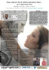 How women think robots perceive them – as if robots were men - Icaart 2013 poster