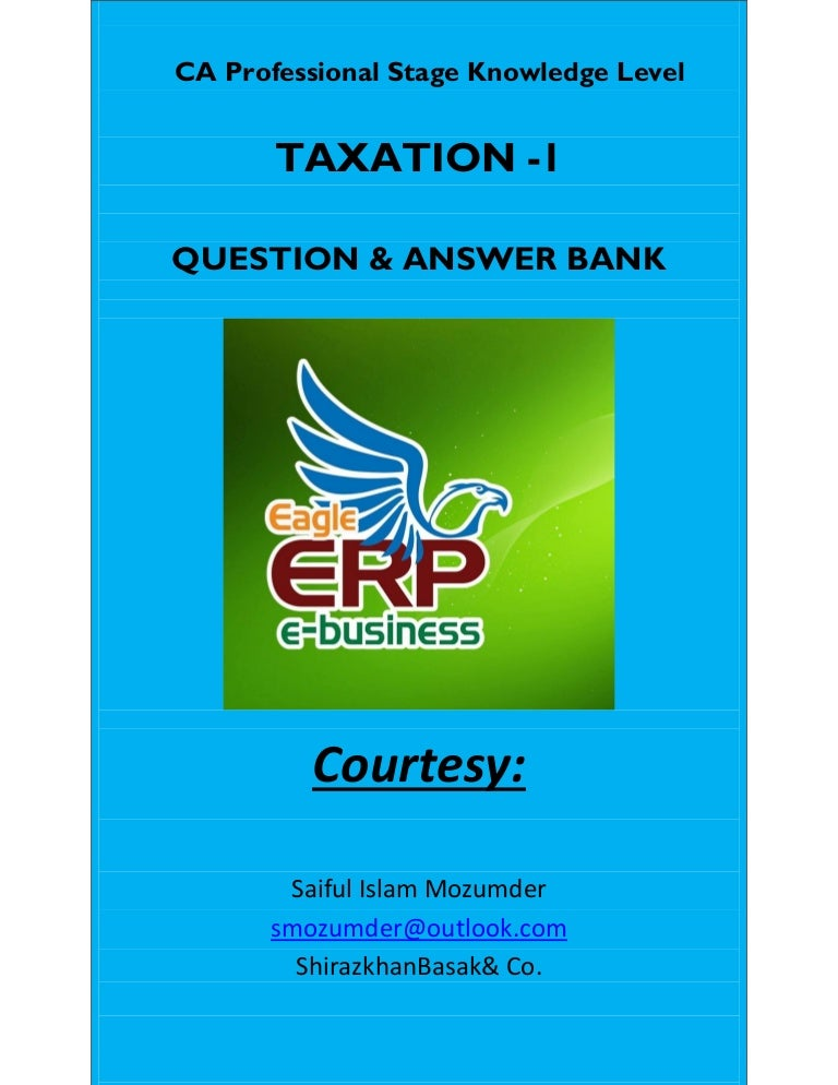 Icab knowledge level taxation i suggested answer may june