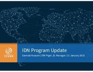 ICANN 52: IDN Program Update