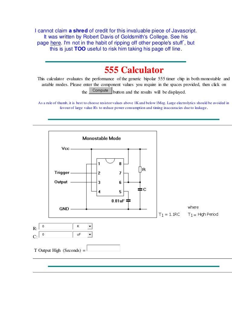 I Cannot Claim 555 Timer Basics Astable Mode