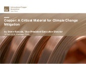 Copper: A Critical Material for Climate Change Mitigation