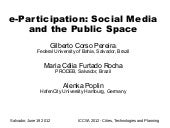 e-Participation: Social Media and Public Space