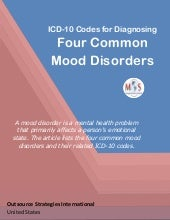 ICD-10 Codes for Diagnosing Four Common Mood Disorders