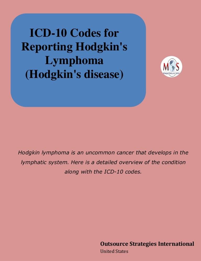 Icd 10 Codes For Reporting Hodgkin S Lymphoma Hodgkin S Disease