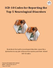ICD-10 Codes for Reporting the Top 5 Neurological Disorders