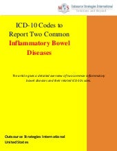ICD-10 Codes to Report Two Common Inflammatory Bowel Diseases