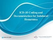 Icd 10 coding and documentation for subdural hematoma