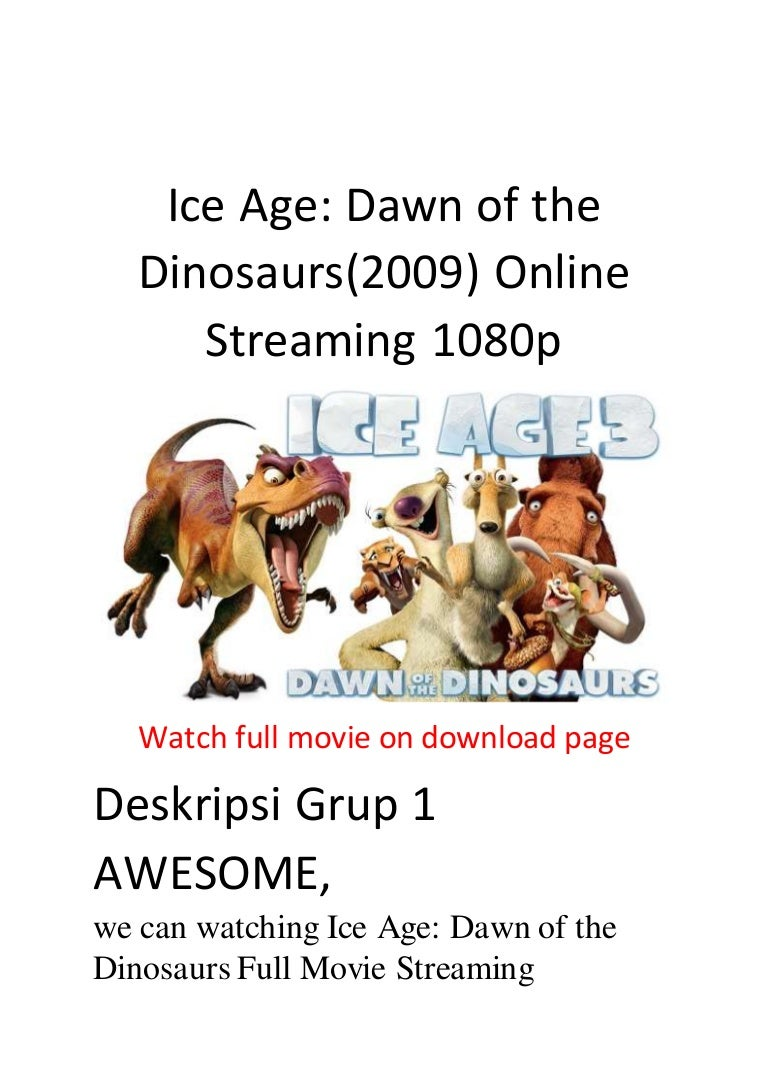 Ice Age Dawn Of The Dinosaurs 2009 Online Streaming 1080p Action And