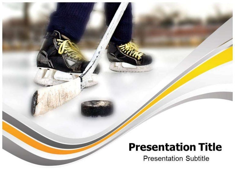 SlideShare  Hockey Templates Free