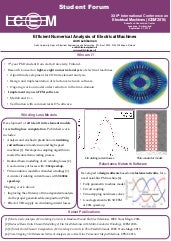 Efficient Numerical Analysis of Electrical Machines - ICEM 2016 Student Forum