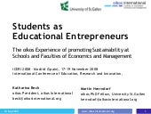 Students at educational entrepreneurs