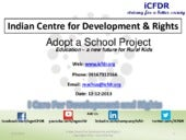 Help iCFDR - Adopt a School for rural education
