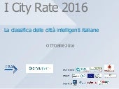 I City Rate 2016: la classifica delle città smart d'Italia