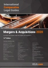 ICLG Mergers and Acquisitions 2020