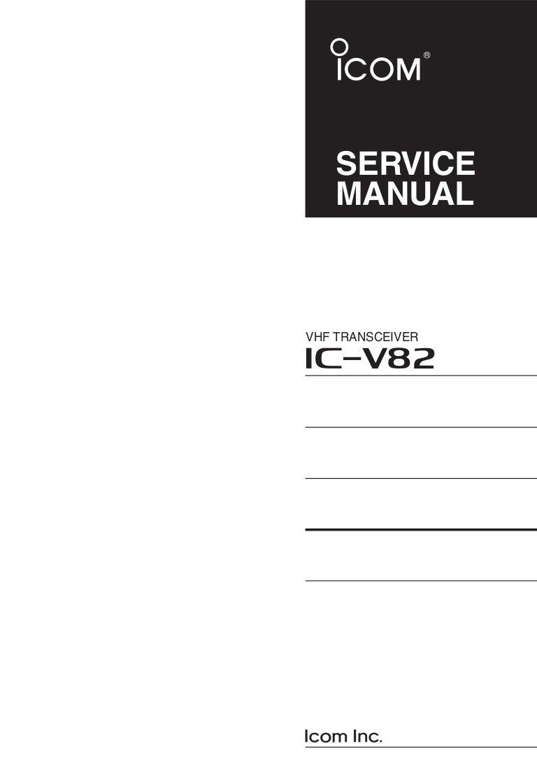 icom v82 service manual rh slideshare net