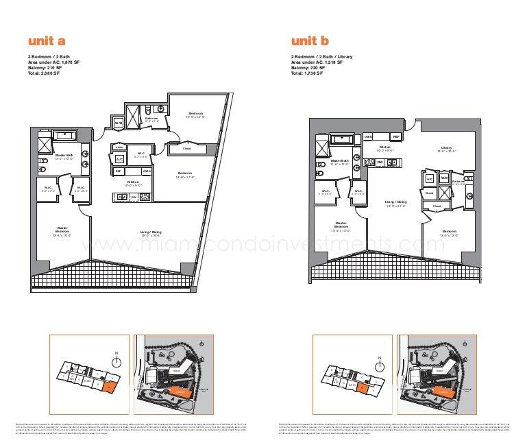 Maternity Hospital Floor Plan: Icon Brickell Tower 2 Floor Plans