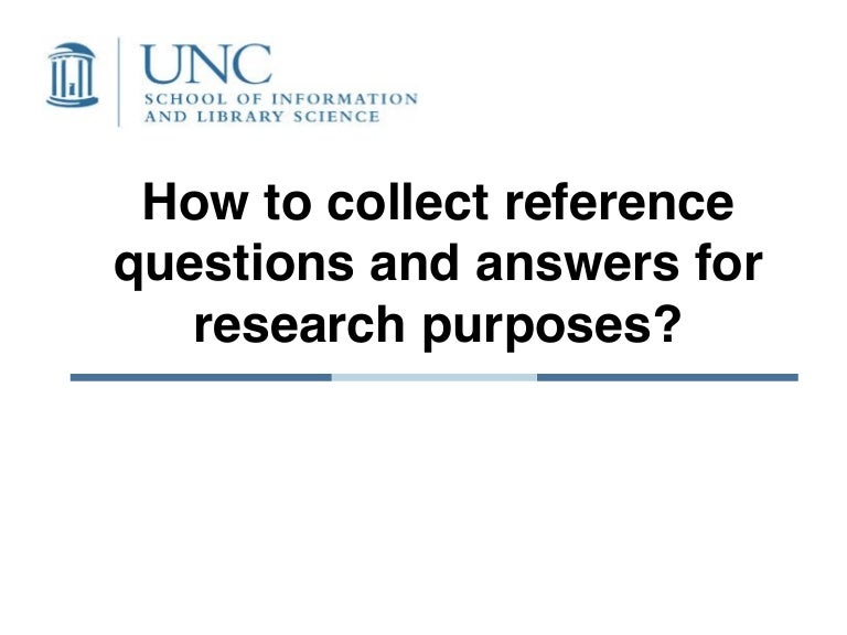 iConference 2010: How to collect reference questions and