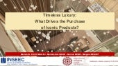 Purchase drivers for iconic products in the luxury sector