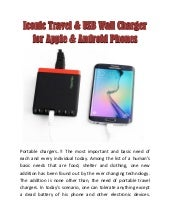 Iconic Travel & USB Wall Charger for Apple & Android Phones