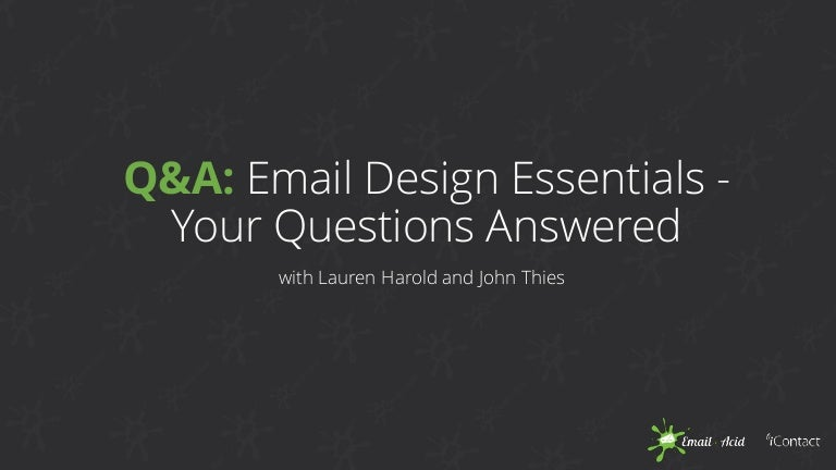 iContact & Email on Acid - Email Design Essentials