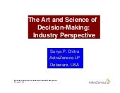 The Art & Science of Decision Making - Key Note Speech