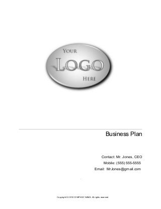Ict business plan
