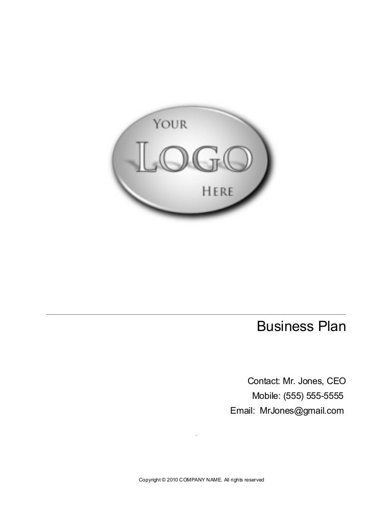 ICT - Business Plan Template