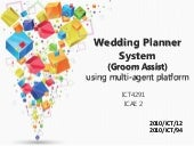 Jade Application Wedding Planner (Groom Assist)